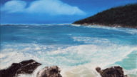 Coolum Beach Oil Painting