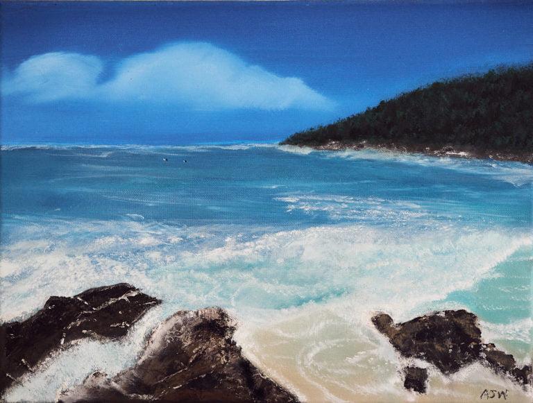 Coolum Beach Oil Painting