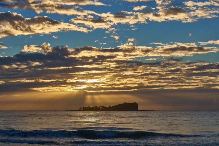 Mudjimba Island Golden Sunrise