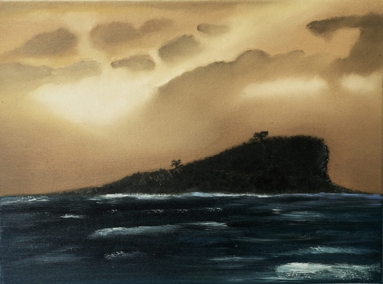 Mudjimba Island Oil Painting Anzac Day