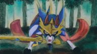 Zacian Oil Painting Pokemon